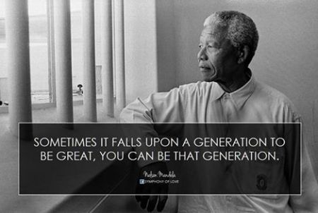 MANdela sometimes it falls upon a generation